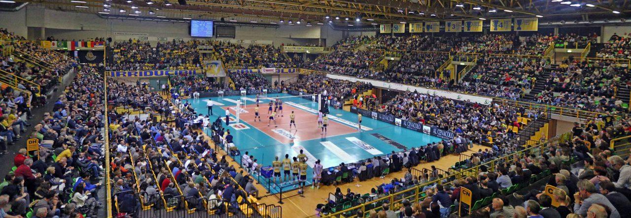 Tempio del volley modena palapanini for Casa modena volley